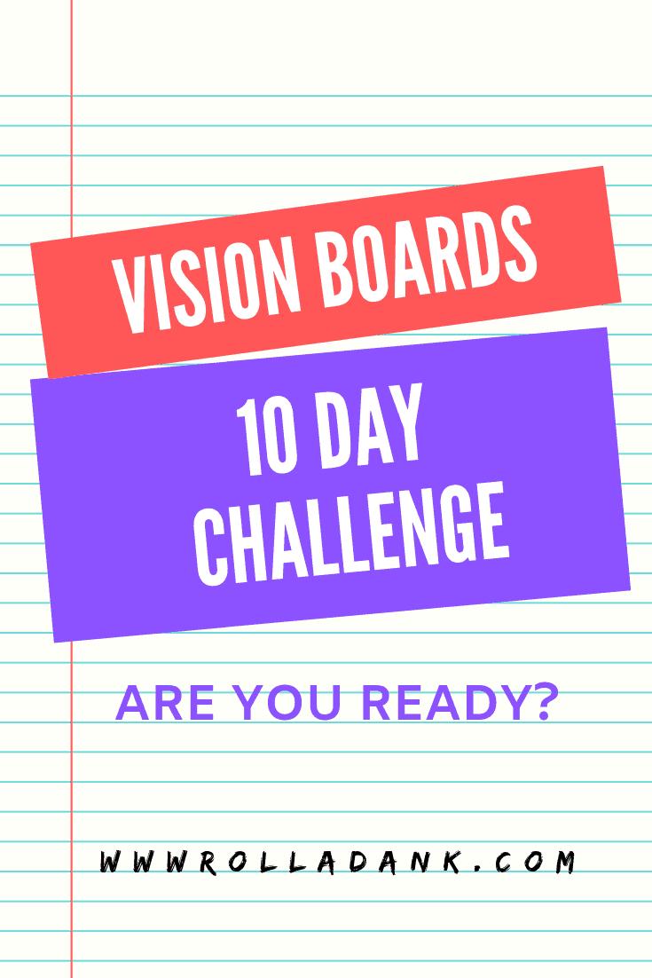 Vision board challenge